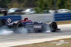 Jimmy Vasser smokes the tires