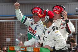 Winning lap for Sébastien Bourdais, Bruno Junqueira and Mario Dominguez