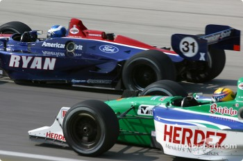 Ryan Hunter-Reay and Roberto Moreno