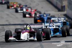 Bruno Junqueira leads Paul Tracy