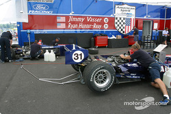 American Spirit Team Johansson paddock area