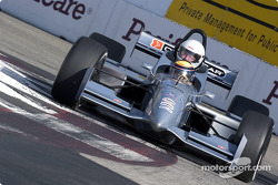 Roberto Moreno takes a guest around the track in the two-seater Champ Car