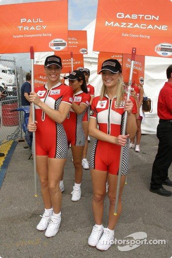 The Miss Molson Indy girls leave the autograph session