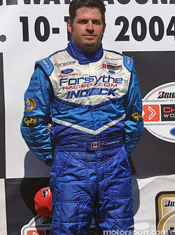 Podium: race winner Patrick Carpentier