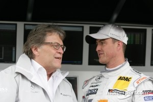 Norbert Haug, Sporting Director Mercedes-Benz and Ralf Schumacher, Team HWA AMG Mercedes, AMG Mercedes C-Klasse