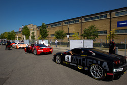 Ferrari Challenge drivers wait to qualify