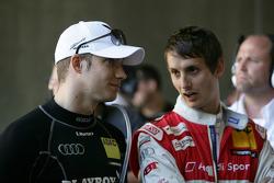 Edoardo Mortara, Audi Sport Team Rosberg, Audi A4 DTM and Oliver Jarvis, Audi Sport Team Abt Audi A4 DTM
