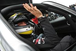 Nico Rosberg, Mercedes GP drives a Mercedes SLS