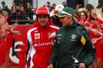 Fernando Alonso, Scuderia Ferrari, Heikki Kovalainen, Team Lotus