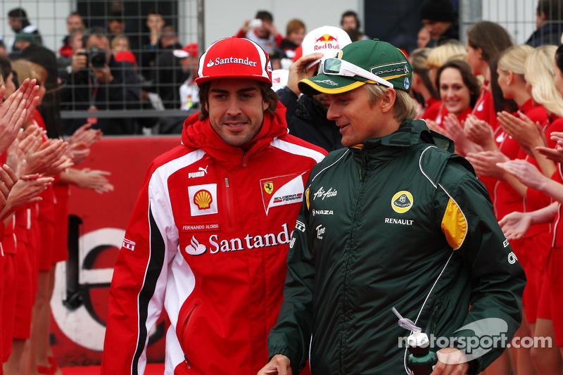 Fernando Alonso, Scuderia Ferrari, Heikki Kovalainen, Team Lotus