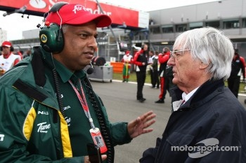 Tony Fernandes, Team Lotus, Team Principal and Bernie Ecclestone