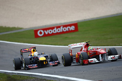 Sebastian Vettel, Red Bull Racing and Felipe Massa, Scuderia Ferrari