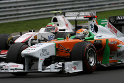 Adrian Sutil, Force India and Sergio Perez, Sauber F1 Team