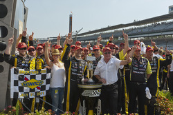 Victory lane: race winner Paul Menard, Richard Childress Racing Chevrolet celebrates