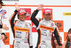 Podium GT300 3rd place: #43 Arta Garaiya: Shinichi Takagi, Kosuke Matsuura