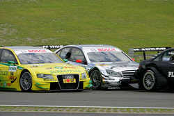 Jamie Green, Team HWA AMG Mercedes C-Klasse, Martin Tomczyk, Audi Sport Team Phoenix Audi A4 DTM, Edoardo Mortara, Audi Sport Team Rosberg Audi A4 DTM