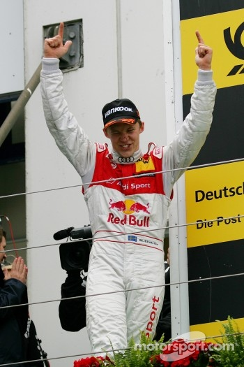 Podium: race winner Mattias Ekström, Audi Sport Team Abt