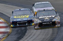 A.J. Allmendinger, Richard Petty Motorsports Ford, Ryan Newman, Stewart-Haas Racing Chevrolet