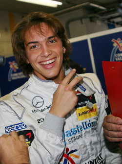 Pole winner Roberto Merhi, Prema Powerteam, Dallara F308 Mercedes