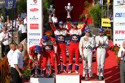 Podium: winners Sébastien Ogier and Julien Ingrassia, Citroën DS3 WRC, Citroën Total World Rally Team