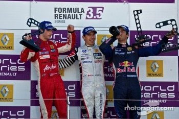 Podium from Left: Alexander Rossi, Robert Wickens and Daniel RIcciardo