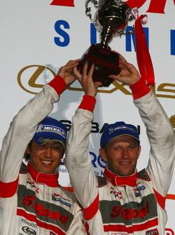 GT500 class podium: second place Masataka Yanagida, Ronnie Quintarelli