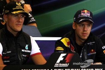 Press conference: Sebastian Vettel, Red Bull Racing and Michael Schumacher, Mercedes GP