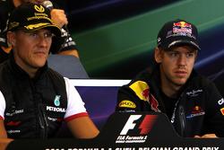 Press conference: Sebastian Vettel, Red Bull Racing and Michael Schumacher, Mercedes GP