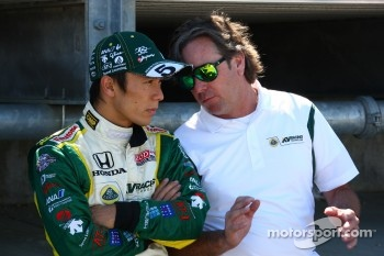 Takuma Sato, KV Racing Technology-Lotus and Jimmy Vasser