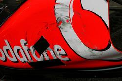 Car of Lewis Hamilton, McLaren Mercedes after his accident with Pastor Maldonado, Williams F1 Team