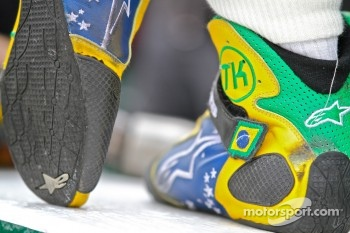 Shoes of Tony Kanaan, KV Racing Technology-Lotus