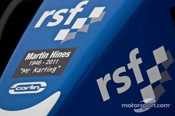 Carlin cars carry a sticker in memory of Martin Hines