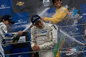 Kevin Magnussen podium Celebrations