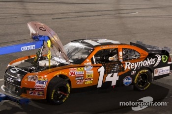 Eric McClure hits the wall