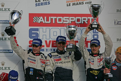 LMP1 podium: class and overall winners Sébastien Bourdais and Simon Pagenaud