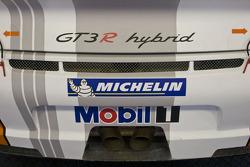 Garage and equipment detail of #911 Porsche Motorpsorts North America Porsche GT3R Hybrid: Romain Dumas, Richard Lietz