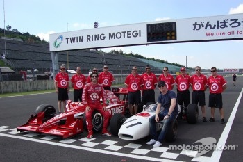 Vintage Honda F1 photoshoot: Dario Franchitti, Target Chip Ganassi Racing and Scott Dixon, Target Chip Ganassi Racing