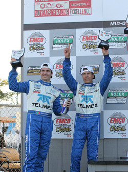 DP podium: second place Scott Pruett and Memo Rojas