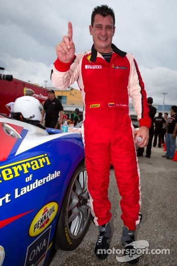 Race winner #22 Ferrari of Ft. Lauderdale Ferrari 458 Challenge: Enzo Potolicchio celebrate