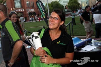 Petit Le Mans pre-race party: Road Atlanta's Megan Ernst working hard
