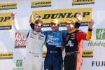 Round 26 Podium: 1st Jason Plato, 2nd Mat Jackson, 3rd Tom Onslow-Cole