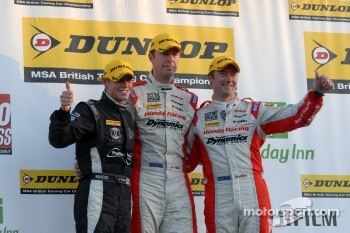 Round 27 Podium: 1st Matt Neal, 2nd Gordon Shedden, 3rd James Nash