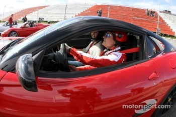 Ryan Ockey drives his Ferarri 599GTO