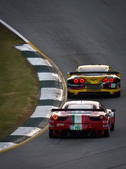#3 Corvette Racing Chevrolet Corvette C6 ZR1: Olivier Beretta, Tom Milner, Antonio Garcia, #61 AF Corse Ferrari F430: Robert Kauffman, Rui Aguas, Justin Bell