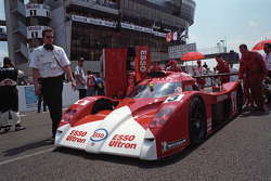 The second place finishing Toyota GT-One in 1999