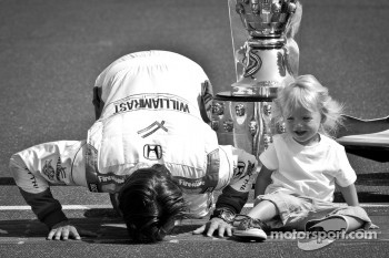 2011 Indy 500 race winner Dan Wheldon, Bryan Herta Autosport with Curb / Agajanian with son Sebastian