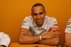 Bernie Ecclestone and Lewis Hamilton, McLaren Mercedes interview