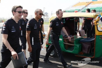 Lewis Hamilton, McLaren Mercedes walks the track