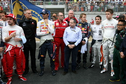 Minute of silence on the grod, Jean Todt, FIA President