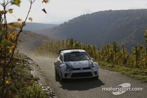Carlos Sainz testing the Polo R WRC